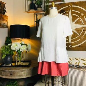 ZARA women's white blouse Sz medium NWT